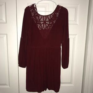 Red American Eagle Lace Accent Dress